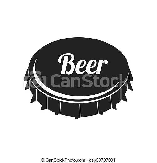 Icon Caps Beer Drink Liquid Isolated Vector Illustration Eps 10