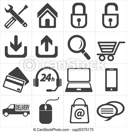icon e commerce and shopping - csp20375170