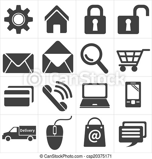 icon e commerce and shopping - csp20375171