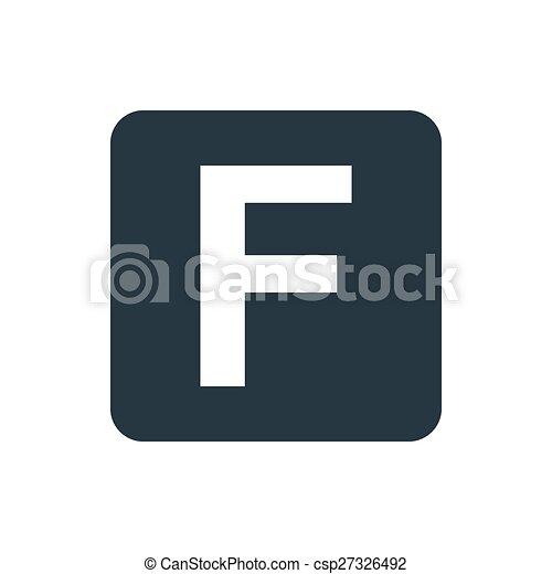 Icon Facebook Letter F Icon Eps Vectors Search Clip Art