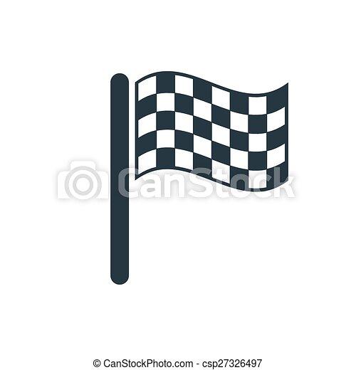 icon finish flags - csp27326497