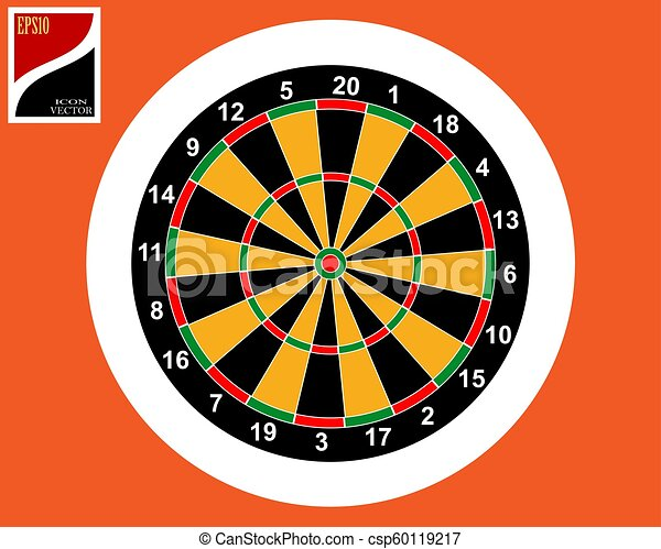 icon for playing darts - csp60119217