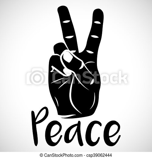 Icon Hand Peace Sign For Creative Use In Graphic Design