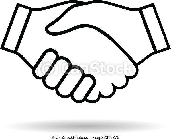 Illustration Icon Handshake Isolated On White Background For Business
