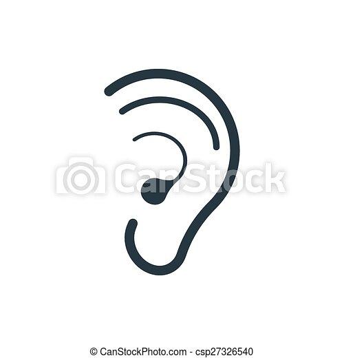 icon hearing ear - csp27326540