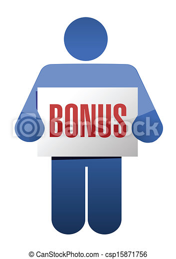 icon holding a bonus sign illustration design - csp15871756