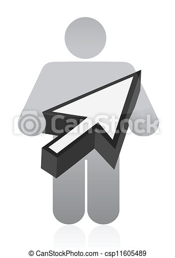icon holding a cursor illustration - csp11605489