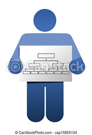 icon holding a diagram illustration design - csp15855104