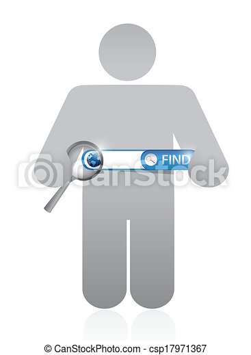 icon holding a search bar illustration design - csp17971367