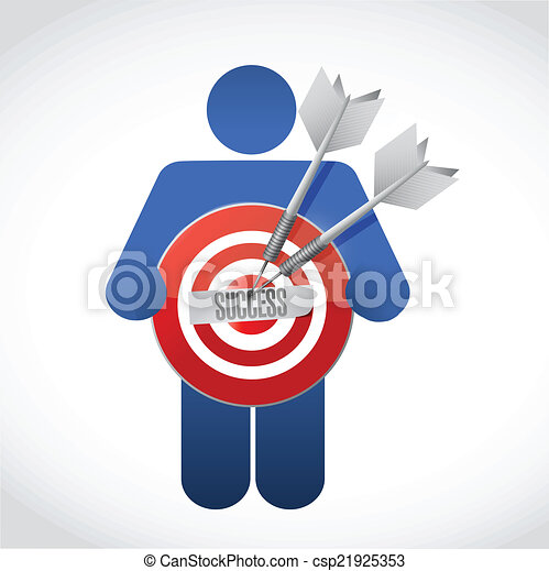 icon holding a success target illustration design - csp21925353