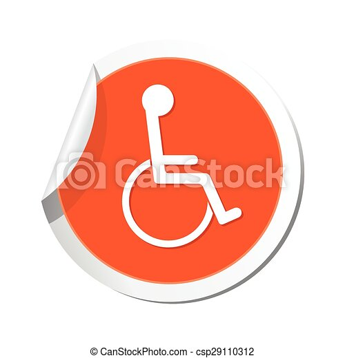 icon., illustration, vektor, handikapp - csp29110312
