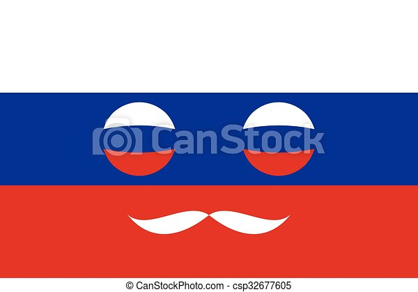 Icon in colors of the Russian flag - csp32677605