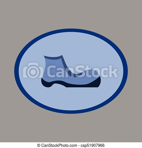Icon in flat design fashion footwear shoe - csp51907966