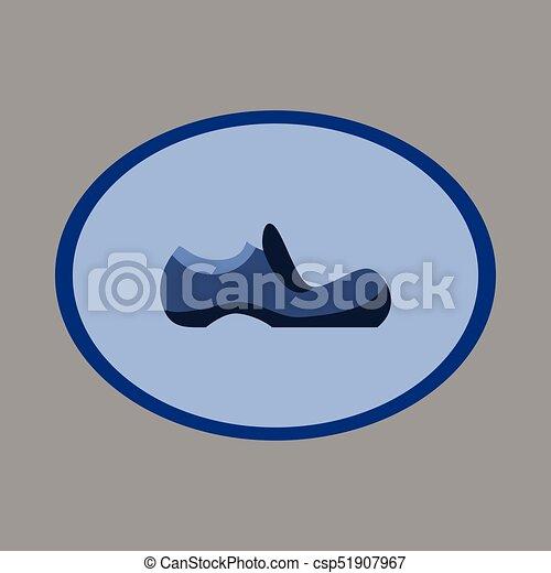 Icon in flat design fashion footwear shoe - csp51907967