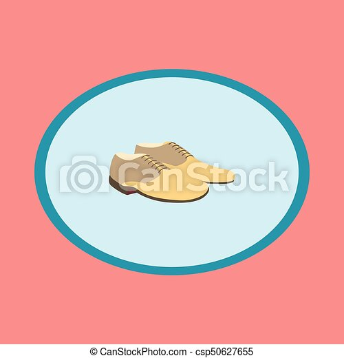 Icon in flat design fashion footwear Pair of men shoes - csp50627655