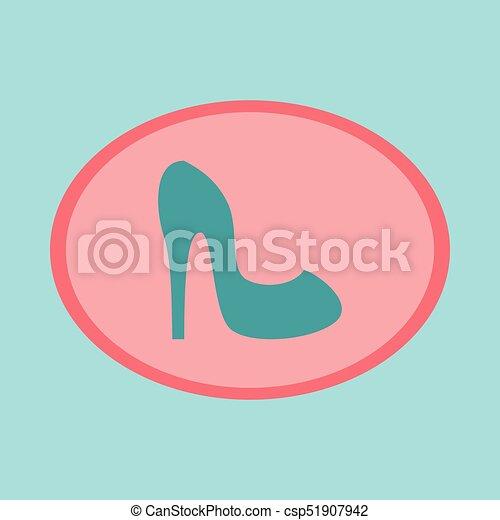 Icon in flat design fashion footwear Women high heel shoes - csp51907942