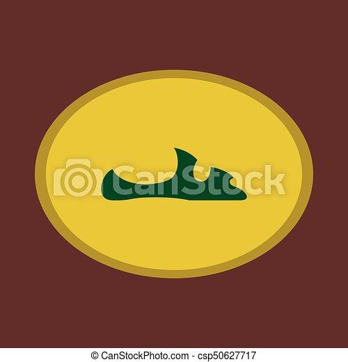 Icon in flat design fashion footwear flip flops - csp50627717