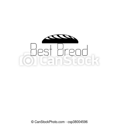 icon labeled bread - csp38004596