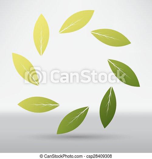 icon leaf - csp28409308
