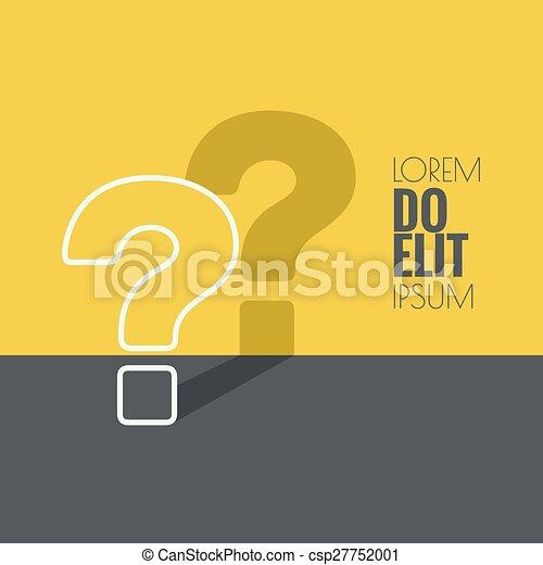 icon., marca pergunta - csp27752001