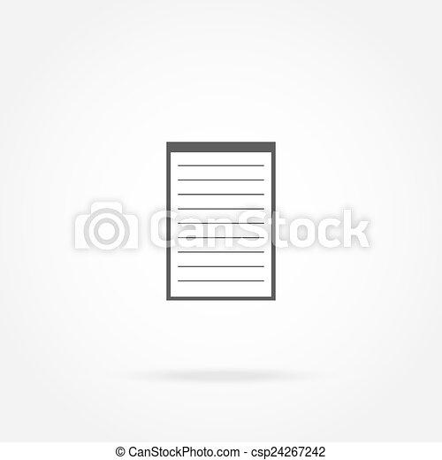 Icon notebook - csp24267242