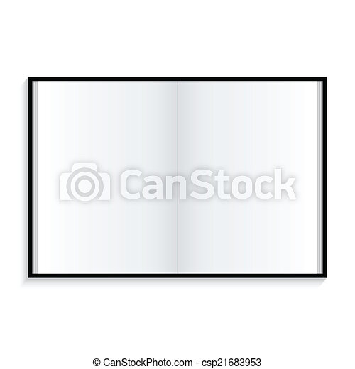 Icon notebook on white background - csp21683953