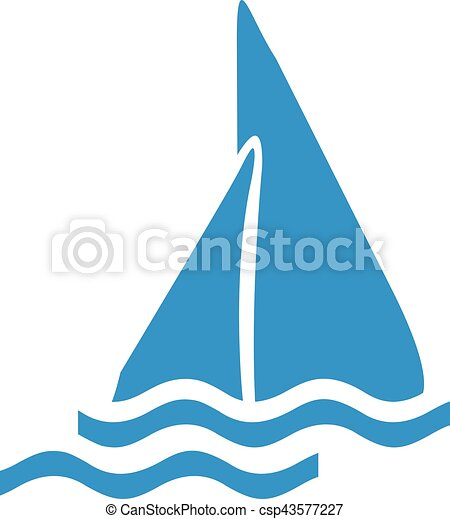 icon of a sailing boat vector illustration search clipart rh canstockphoto com boat vector free boats victoria texas