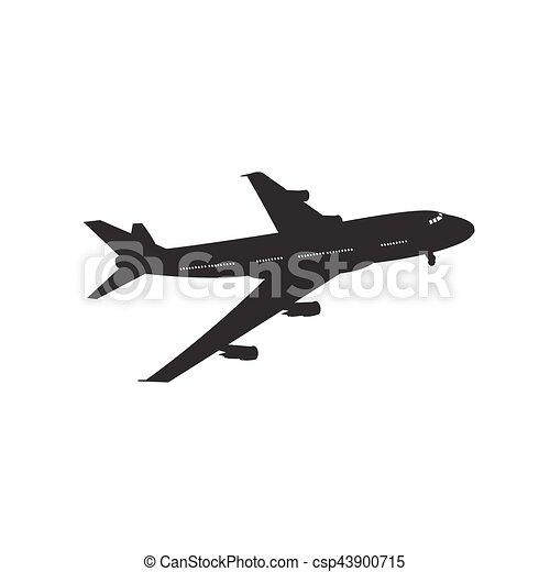 icon of airplane. vector illustration - csp43900715