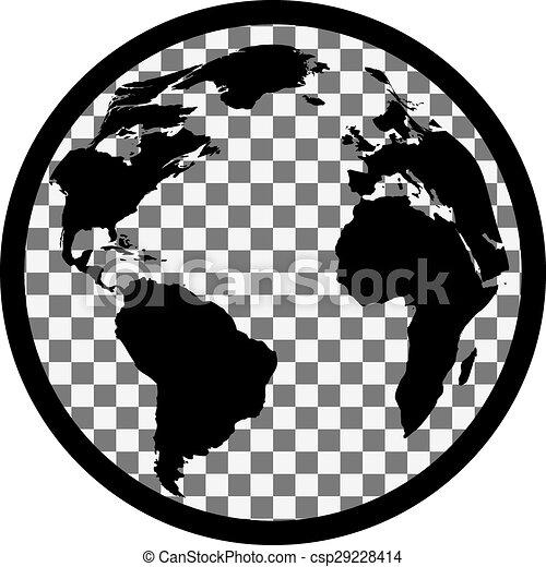 Icon Of Black And White Globe   Csp29228414