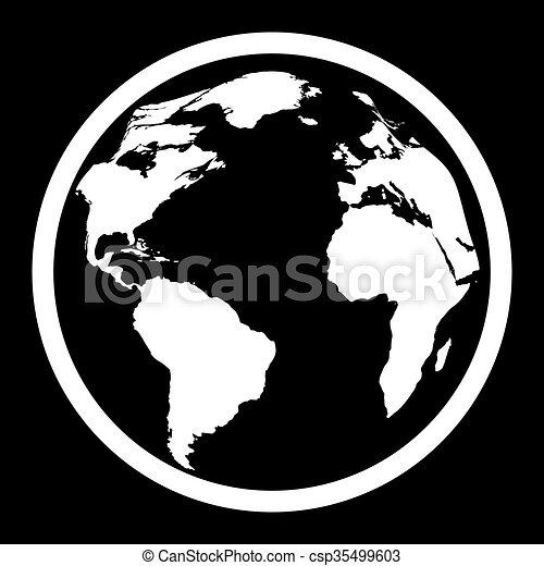 icon of black and white globe vector illustration vector clipart rh canstockphoto com globe vector free download arrow globe vector art