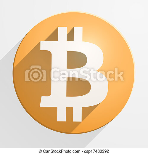 Icon of financial currency Bitcoin - csp17480392
