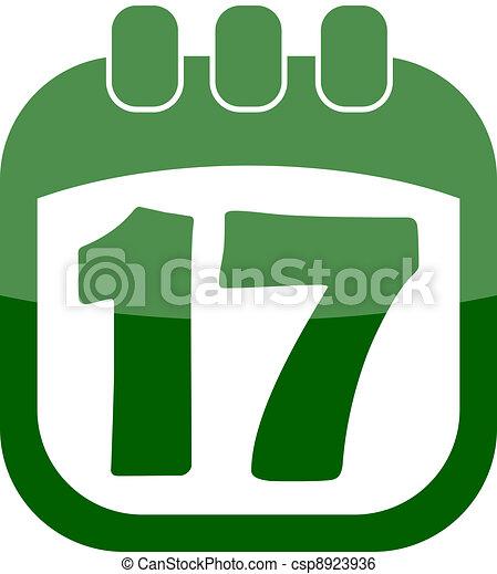 vector icon of march 17 in a calendar