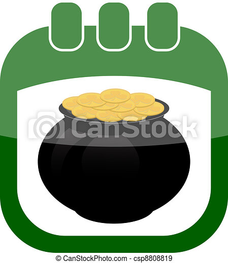 icon of March 17 in a calendar - csp8808819