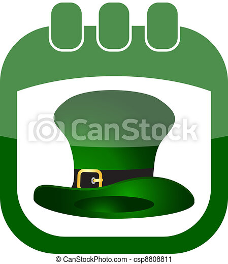 icon of March 17 in a calendar - csp8808811