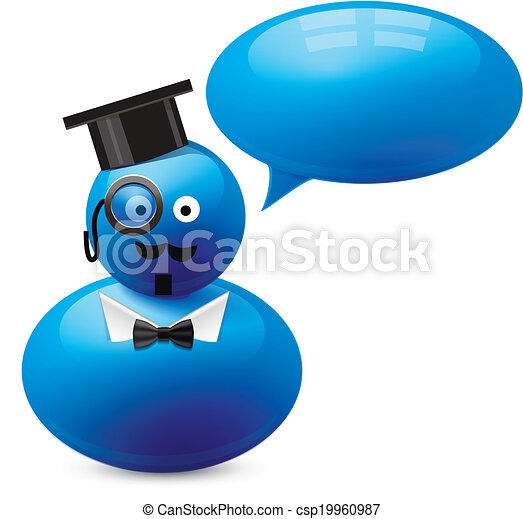 Icon of person with speech bubble - csp19960987