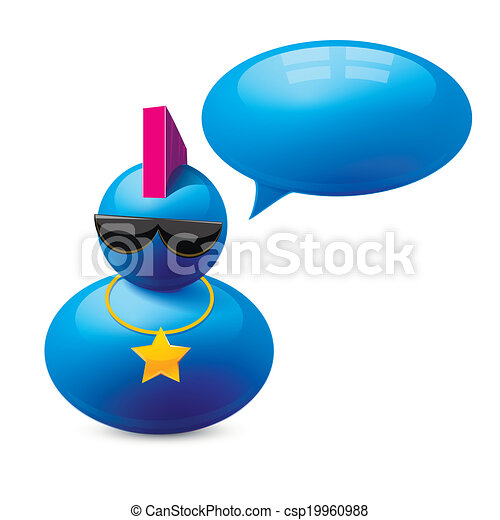 Icon of person with speech bubble - csp19960988