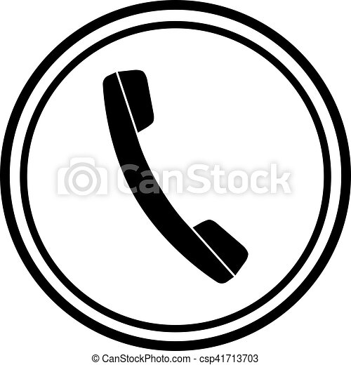 icon of phone telephone vector clipart search illustration rh canstockphoto com telephone logo images telephone logo black and white