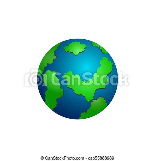 Icon of school globe on white background. - csp55888989
