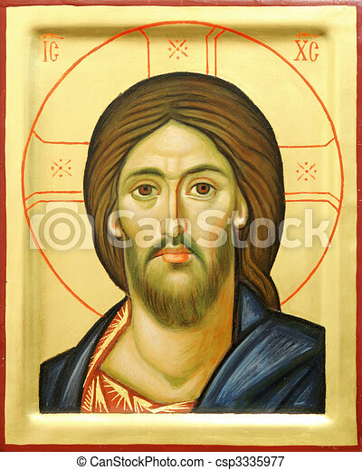 Icon of the Lord Jesus Christ - csp3335977