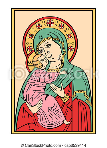 Icon of the Mother of God - csp8539414