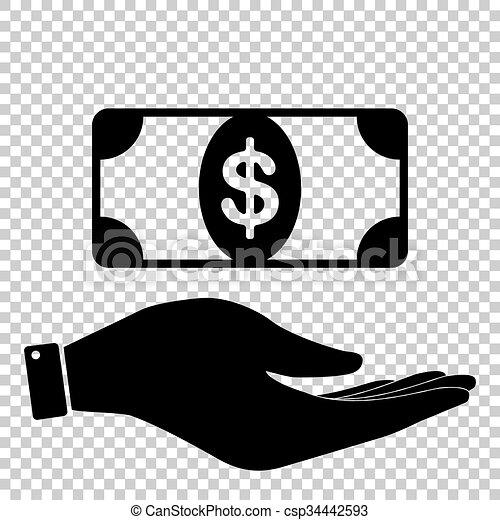 Icon on hand - csp34442593