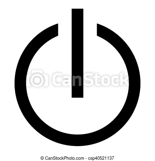 Icon On Off Symbol Of An On Off Switch Of Electrical Equipment