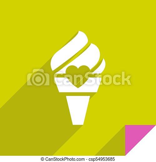 Icon on square sticker - csp54953685