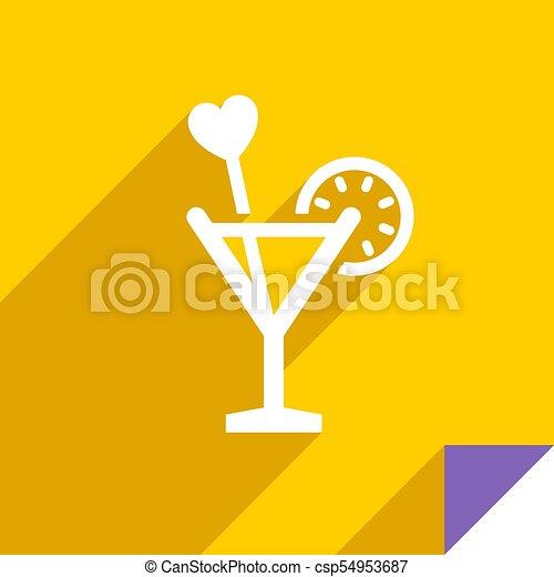 Icon on square sticker - csp54953687
