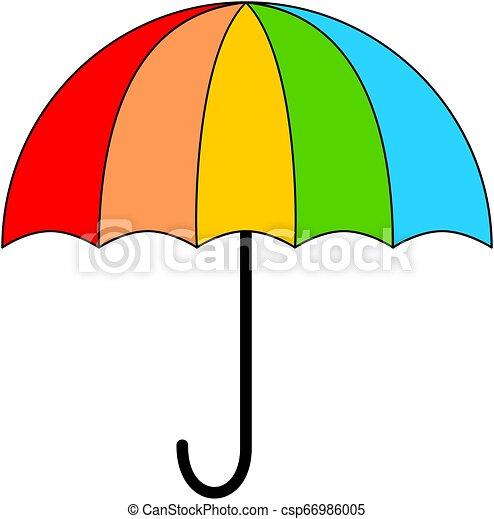 icon., parapluie, coloré - csp66986005