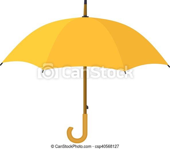 icon., parapluie, jaune - csp40568127
