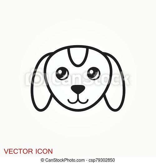 icon., perrito, elemento, su, diseño, perro, símbolo., vector - csp79302850