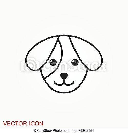 icon., perrito, elemento, su, diseño, perro, símbolo., vector - csp79302851