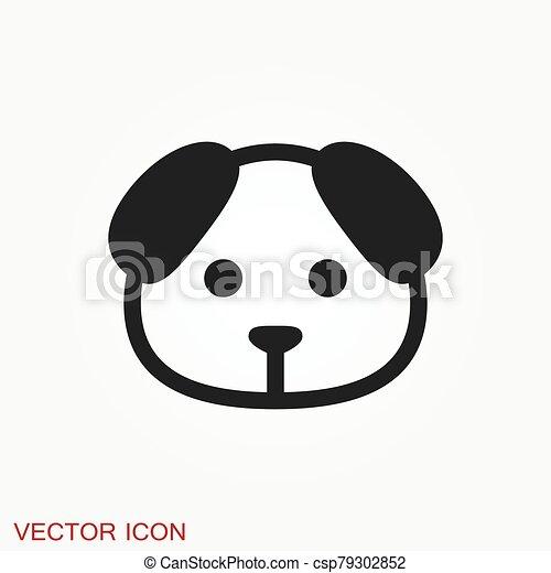 icon., perrito, elemento, su, diseño, perro, símbolo., vector - csp79302852