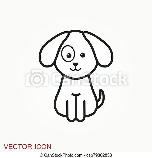 icon., perrito, elemento, su, diseño, perro, símbolo., vector - csp79302853